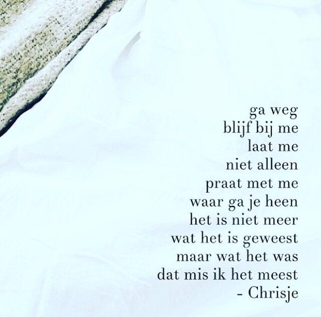 Gedicht: Blijf bij me